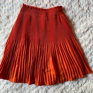Orange H&m skirt